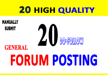 Submit 300  General Forum Posting Do Follow Backlinks on Any Forums