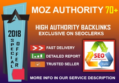 Special Offer: DA 70+ Authority Manual Backlinks