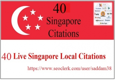 Create 40 Singapore Local Citations for Best Local SEO