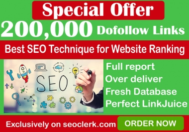200,000 GSA SER Dofollow Backlinks