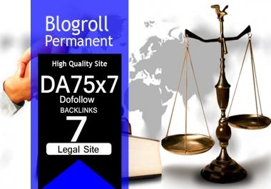 Give Link Da75x7 Site LEGAL Blogroll Permanent