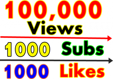 Add Fast 100000+ Youtube vie ws and 1000 sub scribers and 1000+ li kes