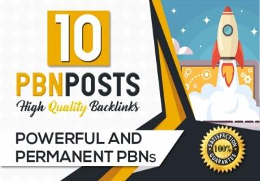 Build 10 High Metrics PBN Posts With Contextual Backlinks