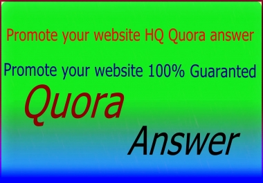 promote your website 35 HQ Quora answer