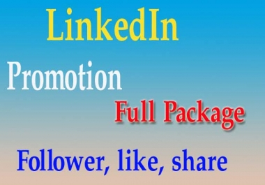 Linkedin Promotion to get real F0LL0WER
