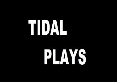 1000 TIDAL PLAYS ON 1 SONG