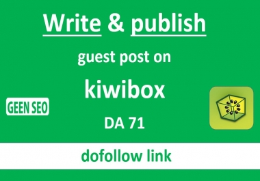 Write and publish guest post on kiwibox DA71