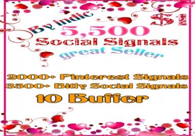 5,500 Social Signals White Hat SEO Backlinks Rank on TOP 3 Social Media