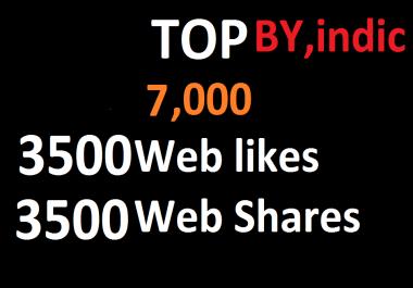 7,000 Social Signals White Hat SEO Backlinks Rank on TOP 1 Social Media