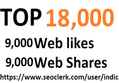 18,000 Social Signals White Hat SEO Backlinks Rank on TOP 1 Social Media