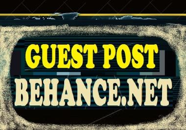 write and publish Guest post on BEHANCE.NET DA78 PA75  dofollow backlinks