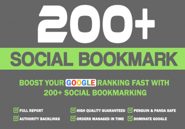 add 200+ social bookmarking authority backlinks