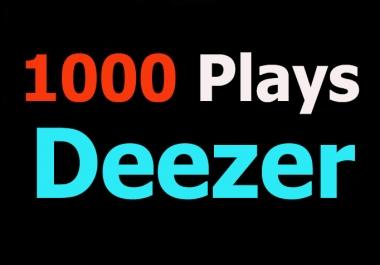 1000 Plays to your Deezer