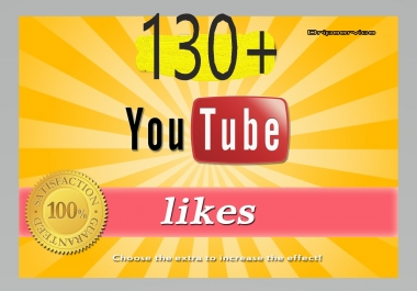 130+ YouTube Video Likes Just 7-12 Hours Complete Or 230+ YouTube Subscribers Non drop  Manually Giveaway