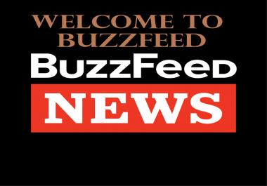 write and publish Guest post on Buzzfeed DA93 PA77 TF53 CF66