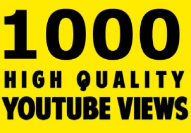 Super Star 1000 YouTube Views Retention and Non drop Video Quick Delivery