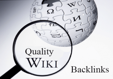 High PR Powerful 1500 Wiki Pages Backlinks