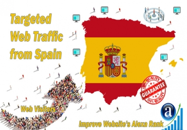 Send 15.000 web visitors from Spain in 30 days