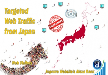 Send 25.000 Japan web visitors real targeted geo traffic