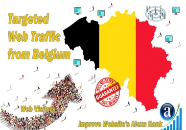 Send 40.000 Belgium web visitors real targeted geo traffic