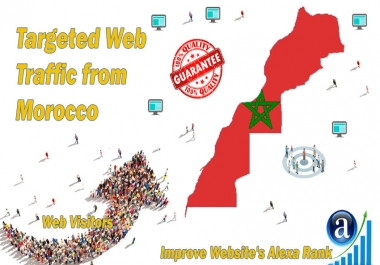 Moroccan web visitors real targeted Organic web traffic from Morocco