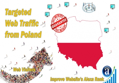 Send 20.000 Poland web visitors real targeted geo traffic