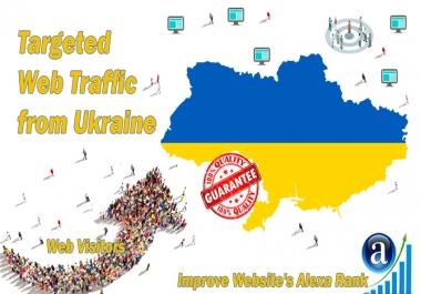 Ukrainian web visitors real targeted Organic web traffic from Ukraine