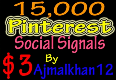 15,000+ SEO Friendly Powerful Social Signals From Top Social Media Important For SEO Ranking