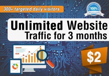 Unlimited Real Website Traffic For 3 Months