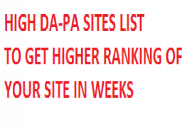 High DA PA online marketing blog list