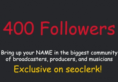 add 400 Real Followers SPREAKER