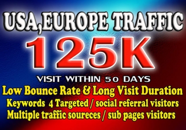 Drive USA Targeted Website Low Bounce rate traffic