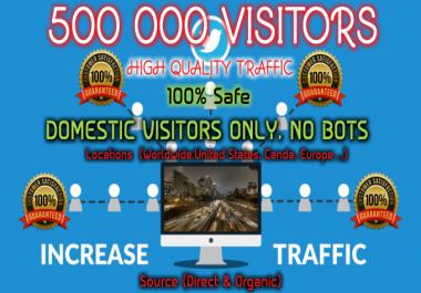 Drive 500,000 Worldwide Targeted Organic Traffic