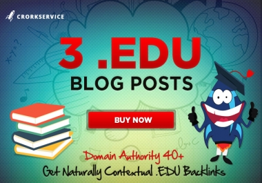3 EDU blog posts with contextual backlinks