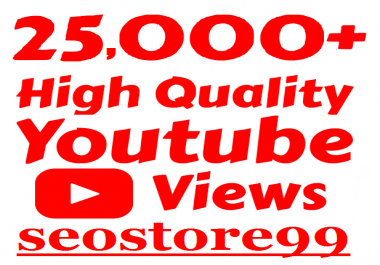 Non-drop 25k+ to 50k+ You-Tube Vie.ws with 15 days refill guaranteed within 24-72 hours