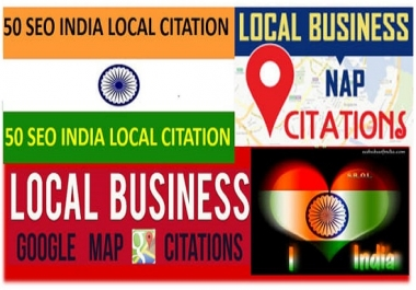 Create 50 Live Local Citation For India
