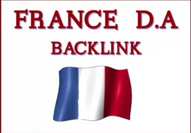 Create 12 High Da, Pr France Backlinks