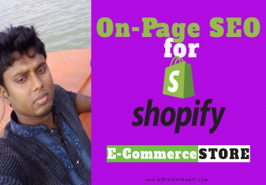 Do Shopify On Page SEO or Shopify E-commerce store setup