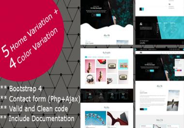 Aki - SEO Friendly One Page Portfolio HTML Theme