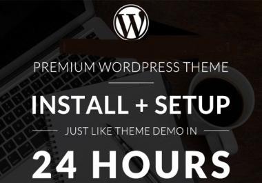 Will Do Install Your Wordpress Theme And Setup Like Demo