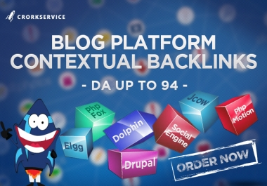 100 Blog Platform Links - Mix SEO Backlinks
