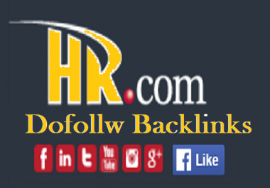 Write and publish with 1 do follow link on Hr. com DA70+