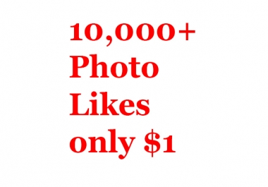 Buy real active non drop 1000+ Phot Likes or 30,000+ Video Views