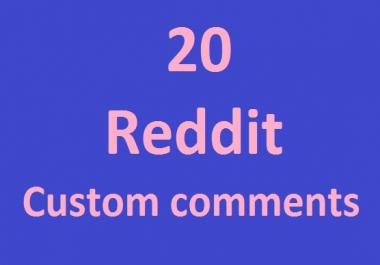 20 reddit custom comment very fast