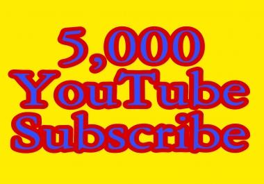 5,000 You'Tube Subs'cribe Lifetime nondrop guaranteed