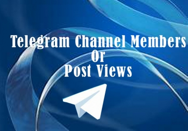 Buy High Quality 560+ Telegram Channel members or Post v.iews