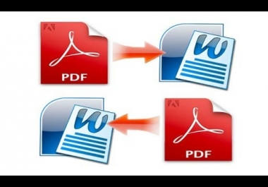 write 50 Pdf Pages to text word format or vice versa |