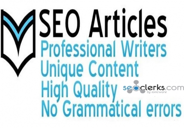 Do 500 SEO Article Writing, Content Writing For Your Website