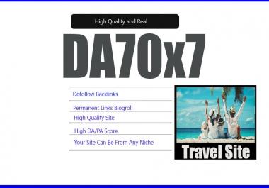 Give Your Backlink Da70x7 Travel Blogroll Dofollow