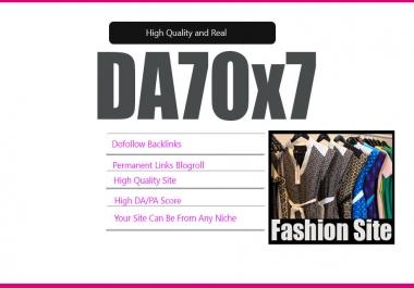 Give Link Da70x7 HQ Site FASHION Blogroll Permanent